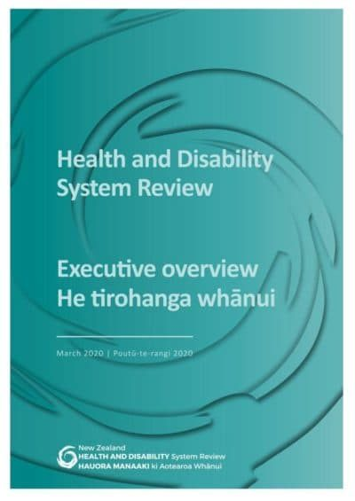 Cover of Health and Disability Review document